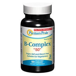 Vitamin B-Complex 50mg - 50vegi caps.