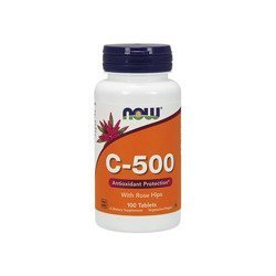 Vitamin C-500 with Rose Hips - 100tabs.