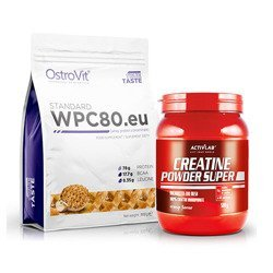 WPC 80.eu Standard - 900g + Creatine Powder - 500g