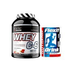Whey C6 Vip Edition - 2500g + Nutrend Flexit Drink - 400g