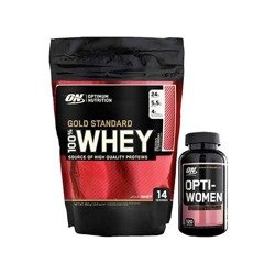 Whey Gold Standard Bag - 450g + Opti Women EU - 120caps
