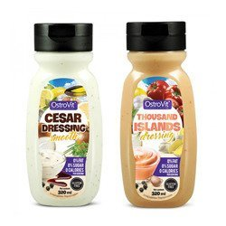 Zestaw 2 Sosów - Sauce 2x 320ml - Cesar Dressing + Thousand Islands