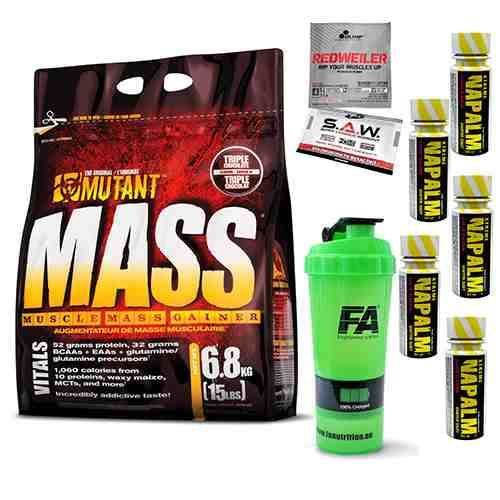 fd563c8518ea Mutant Mass - 6800g  Mutant Mass - 6800g + 5x Napalm Shot - 60ml + Shaker  HQ 100% Charged  Losowa Próbka Produktu ...