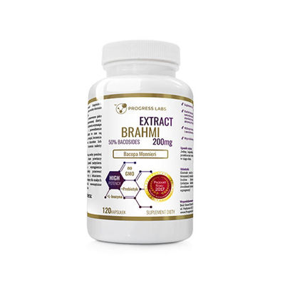 Brahmi Bacopa Monnieri 200mg Extract 50% Bacosides - 120caps