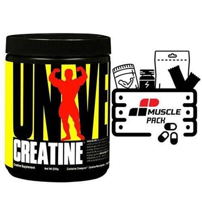 Creatine Micronized - 500g + Muscle Pack GRATIS