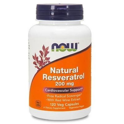Natural Resveratrol 200mg - 120vegcaps