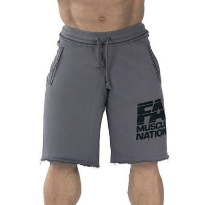 Sweatshorts - Washed - Grey - Promocja