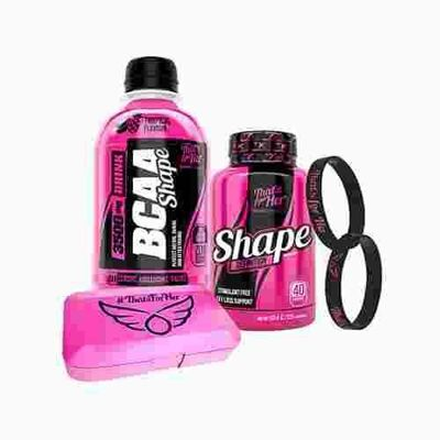 That's for Her - Shape Definition - 120caps + BCAA Shape 3500mg Drink - 250ml + Wristband + Pill Box
